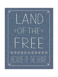 Blue Land of the Free Print by Jo Moulton