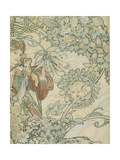 Textile Design Giclee Print by Alphonse Mucha