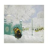 Winter Scene Giclee Print by Boris Michaylovich Kustodiev