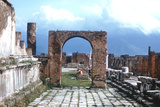 Arch and Walkway, Pompeii, Ancient Rome, 1st Century Ad Photographic Print