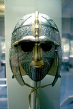 Anglo-Saxon Helmet and Mask from the Sutton Hoo Treasure, 7th Century Photographic Print