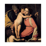 The Holy Family with John the Baptist as a Boy, Early 17th C Lámina giclée por  Caravaggio