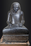 Granite Scribe Statue of the Vizier Paramessu (Ramesses), Ca. 1323-1295 Bc Photographic Print