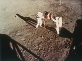 Armstrong and Aldrin Unfurl the Us Flag on the Moon, 1969 Photographic Print
