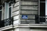 Street Sign, Rue Ampere, Paris, France Photographic Print