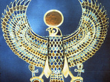 Pectoral Showing the God Horus, Ancient Egyptian, 18th Dynasty, C1325 Bc 写真プリント
