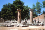 Temple of Hera, Olympia, Greece, 7th-6th Century Bc Photographic Print