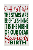 O Holy Night Print by Erin Deranja