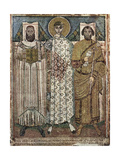 Saint Demetrius of Thessaloniki with the Donors, 6th-7th Century Giclee Print