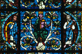 King David, Stained Glass, Chartres Cathedral, France, 1145-1155 Photographic Print
