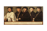 Five Members of the Utrecht Brotherhood of Jerusalem Pilgrims, Ca 1541 Giclee Print by Jan van Scorel