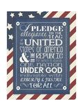Pledge of Allegiance Giclee-tryk i høj kvalitet af Jo Moulton