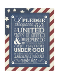 Pledge of Allegiance Poster by Jo Moulton