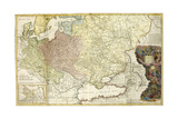 Map of Muscovy Giclee Print by Herman Moll