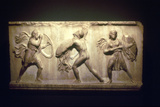 Greek Warrior Fighting an Amazon, 8th-5th Century Bc Photographic Print