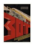 Free Railway Society for the Mastery of Technical Equipment, 1933 Giclee Print by Dmitry Anatolyevich Bulanov