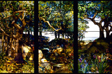 A Wooded Landscape in Three Panels, C. 1905 Photographic Print by Louis Comfort Tiffany