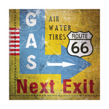 Gas Next Exit Posters by Linda Woods
