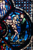 Creation of Eve, Stained Glass, Chartres Cathedral, France, 1205-1215 Photographic Print