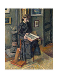 Young Girl with a Book, C1906 Giclee Print by Charles Guerin