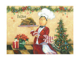 Christmas Chef Print by Vickie Wade