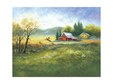 Autumn Barn and Pheasants Prints by Vickie Wade