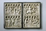 Ivory Diptych with Scenes from Life of Christ (Property of Queen Jadwiga of Polan), 14th Century Photographic Print