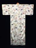 Embroidered White Satin Ladies Kimono, Japanese, Edo Period, 1600-1867 Photographic Print