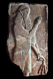 Priest with a Branch of Pomergranate Tree, 722-705 BC Photographic Print