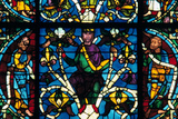 Prophet, Stained Glass, Chartres Cathedral, France, 1145-1155 Photographic Print