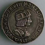 4-Testoon, Duchy Savoy, Italy, (Obverse: Philibert II, Duke of Savo), 1497-1504 Photographic Print