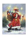 Strolling Santa II Prints by Vickie Wade