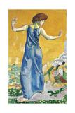 Joyful Woman Gicléetryck av Ferdinand Hodler