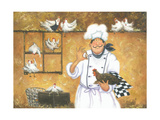 Chicken Chef Prints by Vickie Wade