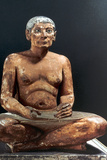 Seated Scribe, Ancient Egyptian, 5th Dynasty, 2498-2345 Bc Photographic Print