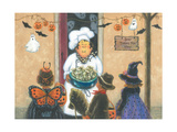 Halloween Chef Poster by Vickie Wade