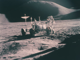Apollo 15 Astronaut James Irwin with the Lunar Rover, August 1971 Photographic Print