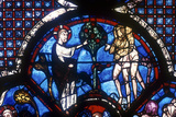 The Good Samaritan Window, Chartres Cathedral, France, 13th Century Photographic Print