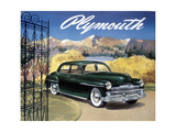 Poster Advertising the Plymouth Special De Luxe Sedan, 1949 Reproduction procédé giclée