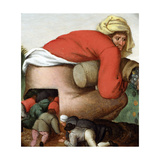The Flatterers Reproduction procédé giclée par Pieter Brueghel the Younger