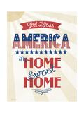 God Bless America Giclee-tryk i høj kvalitet af Jo Moulton