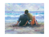 Beach Lovers I Art by Vickie Wade