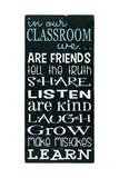 In Our Classroom Poster von Erin Deranja