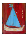 Blue Sail Posters by Melissa Lyons