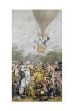 Balloon Ascent Giclee Print by Frederik Hendrik Kaemmerer