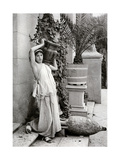 A Young Woman Carrying a Roman Vase on Her Shoulder, 1902-1903 Giclee Print by Antonio Canovas