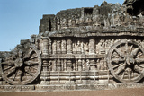 Side Wall of the Chariot, Temple of the Sun, Konarak, India, 13th Century Photographic Print