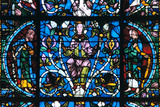 Virgin and Prophets, Stained Glass, Chartres Cathedral, France, 1194-1260 Photographic Print