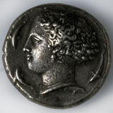 Silver Tetradrachma from Syracuse, 5th-4th Century Bc Photographic Print