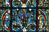 King Solomon, Stained Glass, Chartres Cathedral, France, 1145-1155 Photographic Print